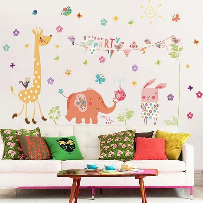 【Loviisa 花園派對】無痕壁貼 壁紙