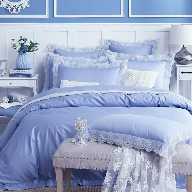 【Cozy inn】特蒂絲 300織精梳棉四件式被套床包組(特大)
