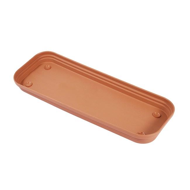 彩陶花槽底盤-中 紅綠混色
