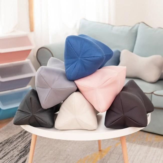 【網狐家居】多功能立體透氣靠三角枕(隨機不挑色)多功能立體透氣枕 (隨機不挑色)