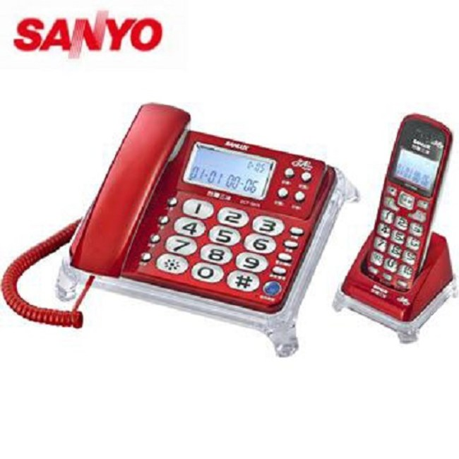 SANLUX 台灣三洋 數位親子機電話  DCT-8915  紅