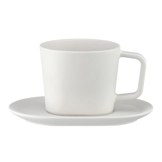TOAST DRIPDROP 陶瓷咖啡杯盤組180ml-白色