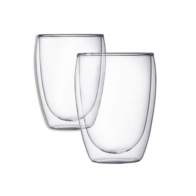 耐熱雙層玻璃杯350ml-2入組