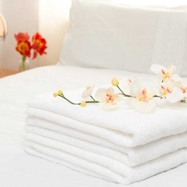 【花季】典雅風情-純白五星飯店級厚織大浴巾x6件組