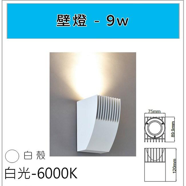 HONEY COMB 經典白殼9W壁燈 白光 TARW409-6