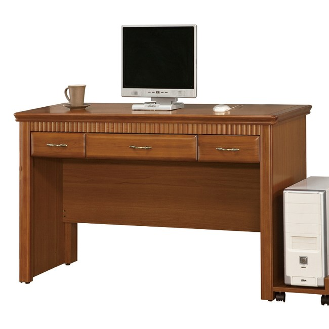 【YFS】多莉絲4.2尺三抽書桌-127x57x82cm