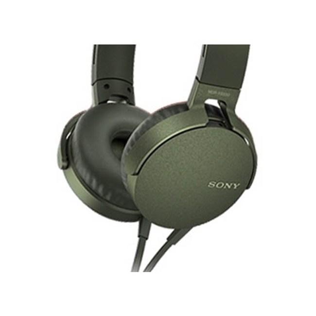 【送收納袋】SONY MDR-XB550AP 綠 EXTRA BASS耳罩式耳機