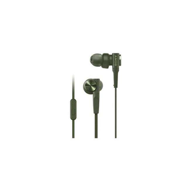 【送收納盒】SONY MDR-XB55AP 綠 重低音入耳式 支援智慧型手機