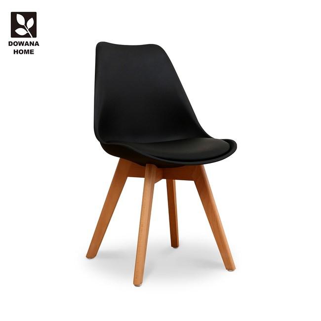 【多瓦娜】捷琳舒適DIY造型皮餐椅/黑色