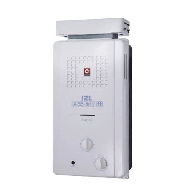 (含標準安裝)櫻花ABS式屋外型熱水器GH-1221桶裝瓦斯