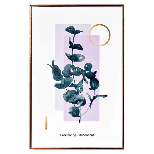 TROMSO北歐生活版畫有框畫-美好綠葉紫