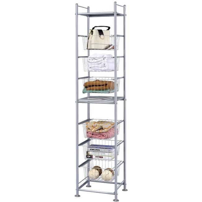 巴塞隆納─六層收納置物籃架(並附2個收納層板)