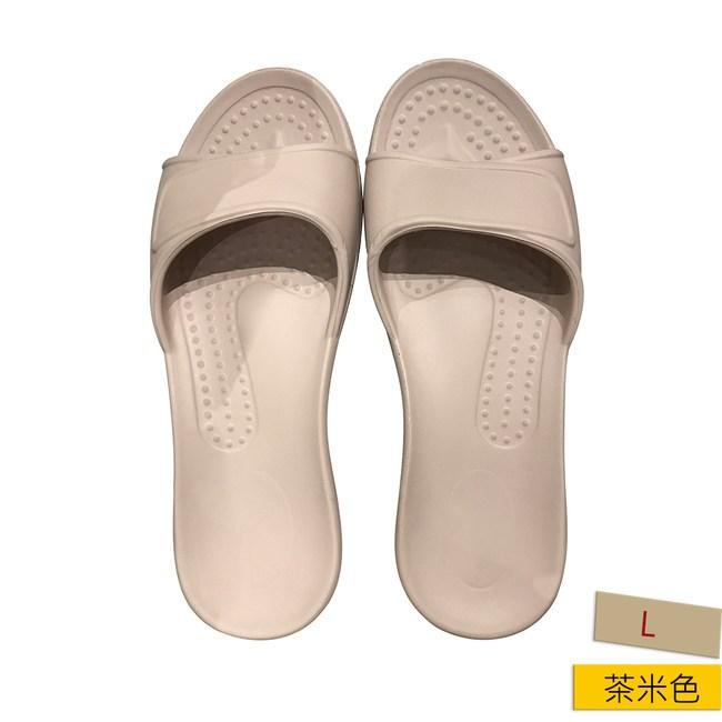 HOLA EVA柔軟室內拖鞋 茶米L