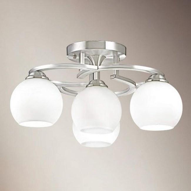 YPHOME  白玉玻璃半吸頂燈 FB34844