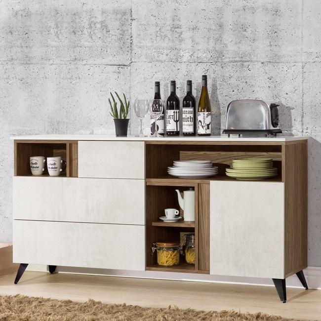 Homelike 席卡5.3尺餐櫃(含石面)-免組裝