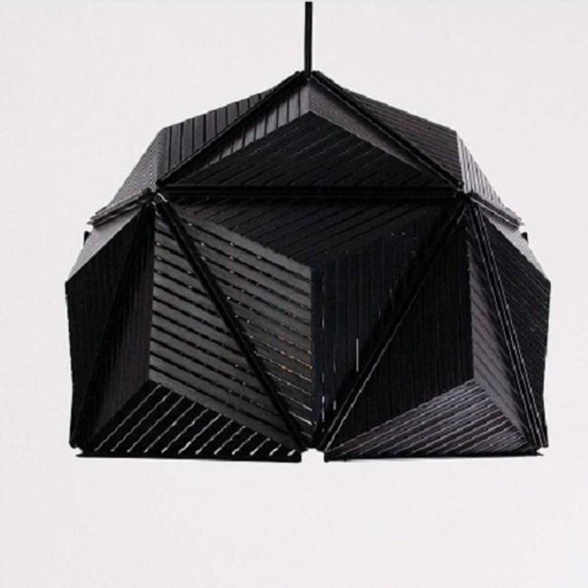 QUALY|三角幾何-燈罩(黑)