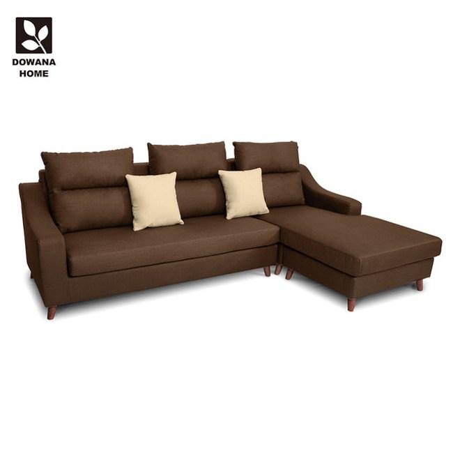 【多瓦娜】奈洛比貓抓皮L型沙發咖啡