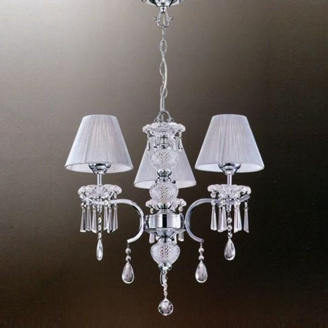 YPHOME 金屬水晶吊燈三燈 S81312H