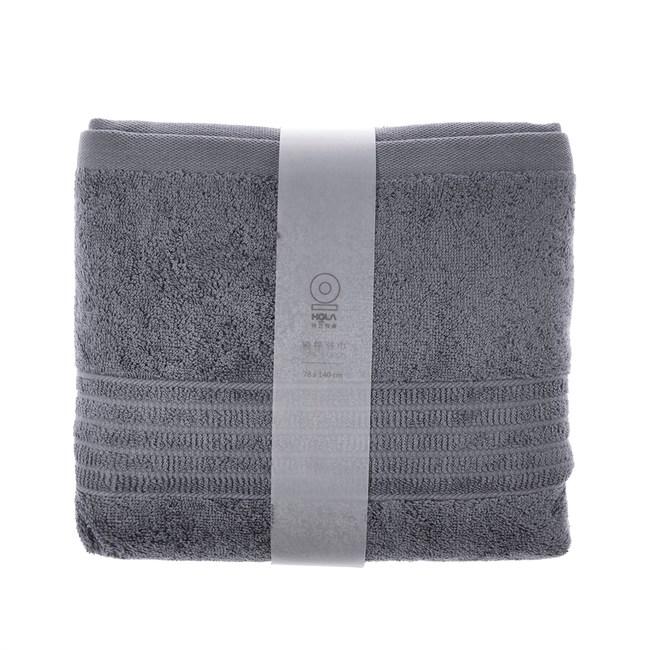HOLA 土耳其典雅素色浴巾-銀灰78x140cm