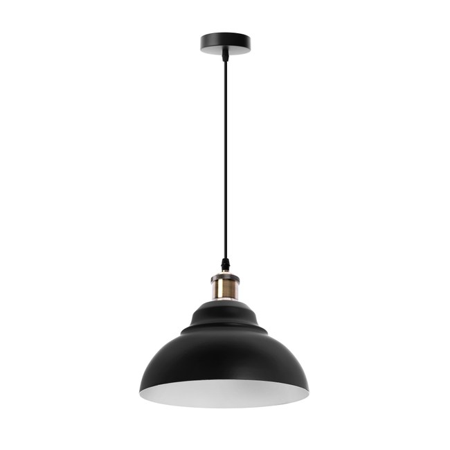 (組)特力屋萊特古銅吊燈黑鐵燈罩