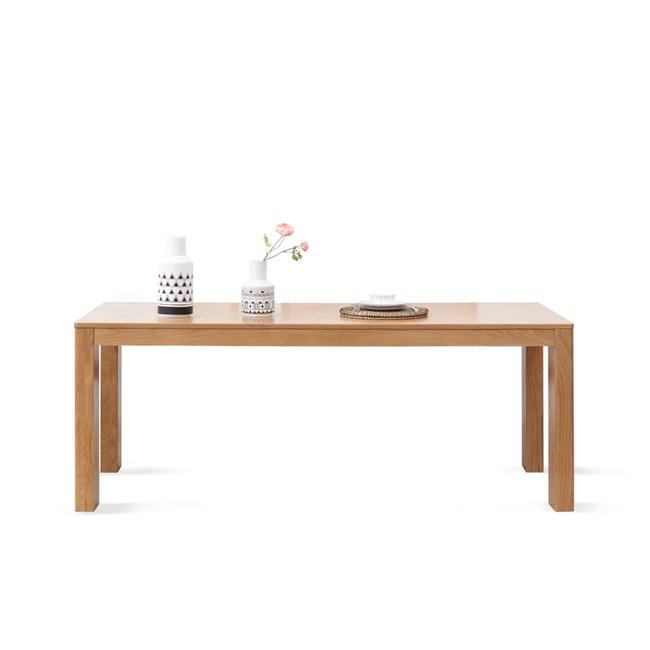 源氏木語鹿特丹橡木1.8M立體腳餐桌 Y2851-原木色