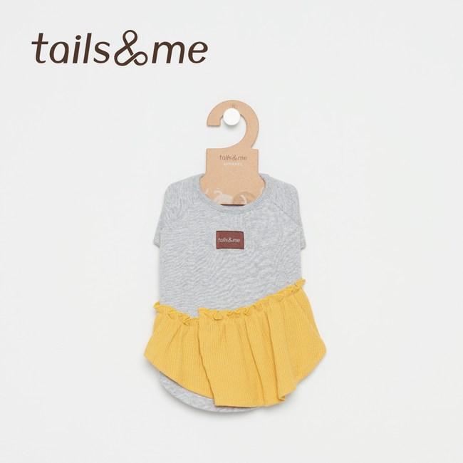 Tails&Me 尾巴與我-荷葉邊上衣(L)灰黃