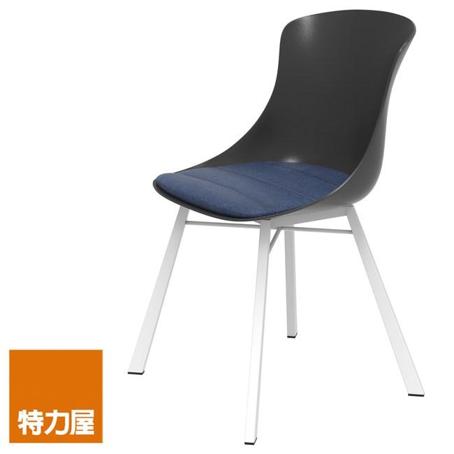 組 特力屋 萊特椅 白金屬腳+黑椅背+丹寧座墊 型號RT03-1