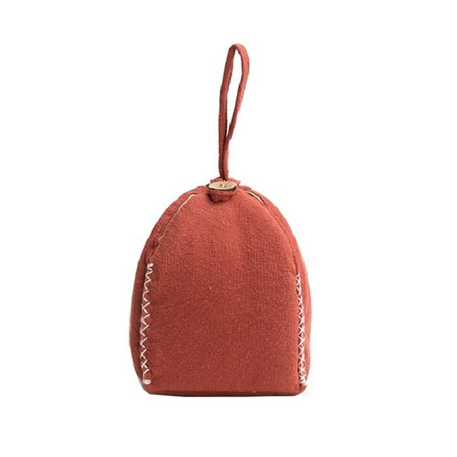 風鈴布包陶瓷茶具收納袋-橘色(多款顏色可選)