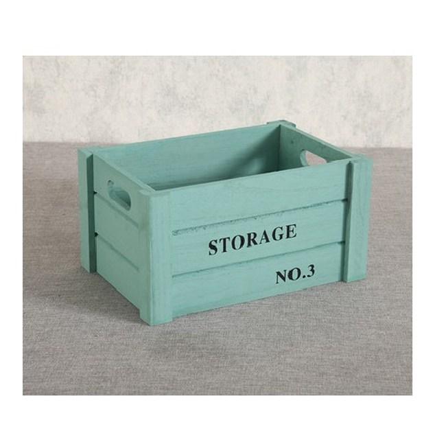 家居木質收納箱-(綠色)小