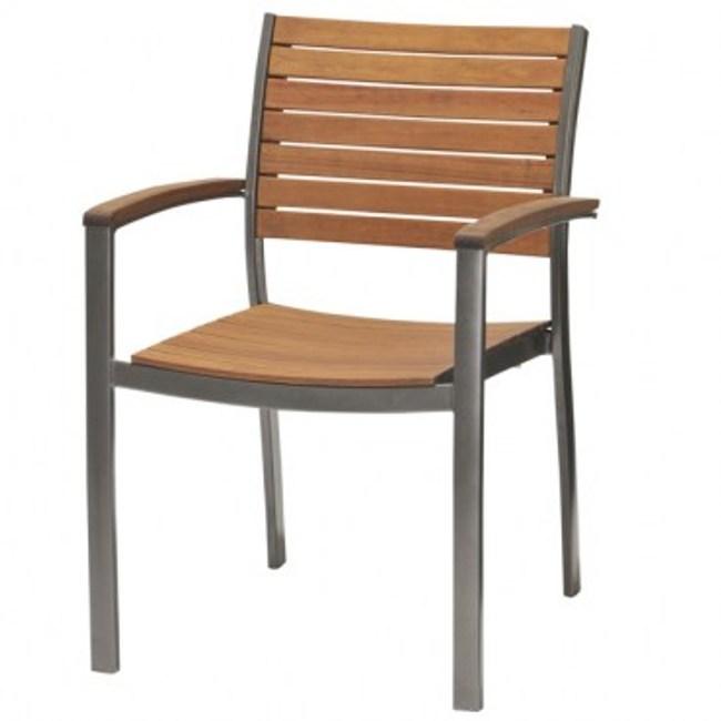 FSC 佛朗明哥鋁製椅腳硬木椅 深灰色款 58.3x59.4x150cm