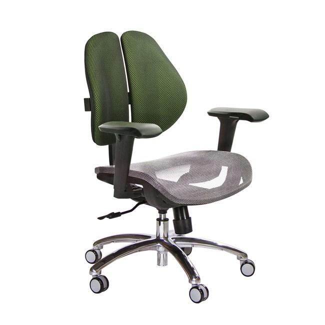GXG 低雙背網座 電腦椅(鋁腳/4D升降扶手)TW-2803 LU3訂購後備註顏色