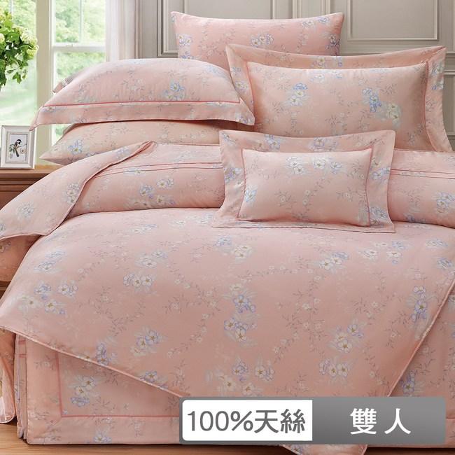 【貝兒居家寢飾生活館】裸睡系列60支天絲兩用被床包組(雙人/伊芙琳)
