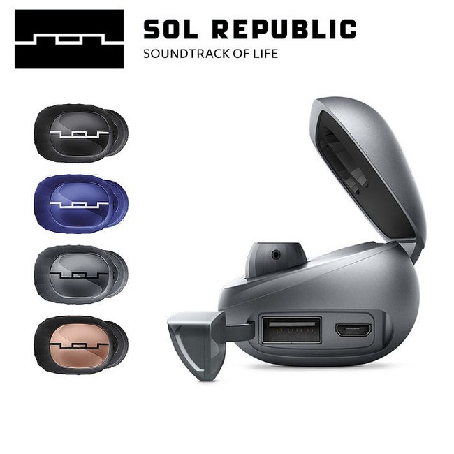 Sol Republic Amps Air 2.0 真無線藍牙耳機經典黑