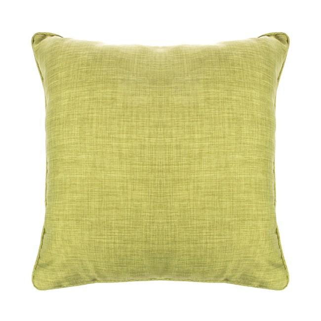 HOLA 素色拼色滾邊抱枕50x50cm 草綠