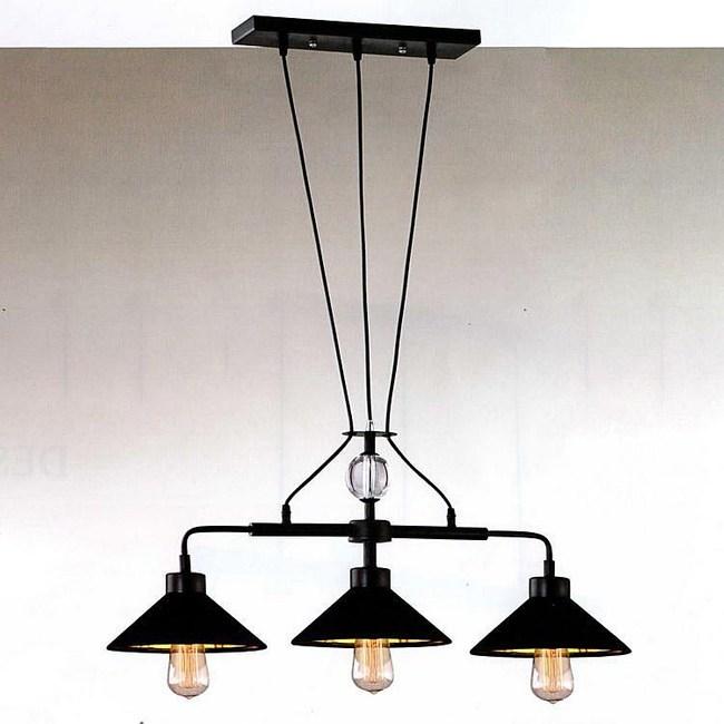 【PW居家燈飾】 工業風長盤三吊燈