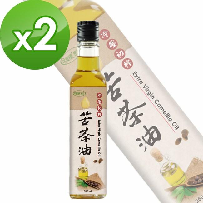 【樸優樂活】冷壓初榨苦茶油(250ml/瓶)x2件組