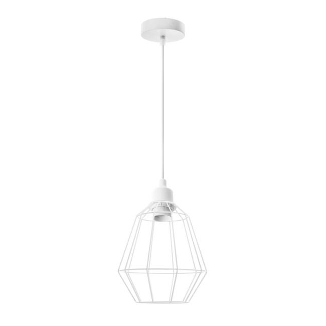 (組)特力屋萊特白吊燈鐵線白燈罩