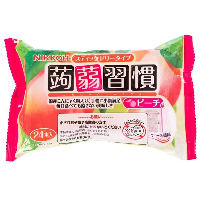 日本 日幸 蒟蒻習慣果凍 24條入 水蜜桃風味 NIKKOH