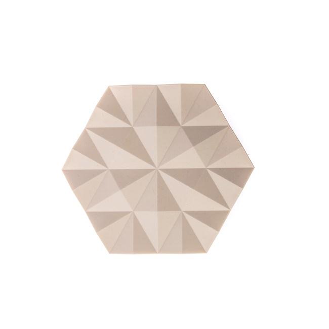丹麥ZONE FACET系列菱紋矽膠鍋墊-櫸木黃