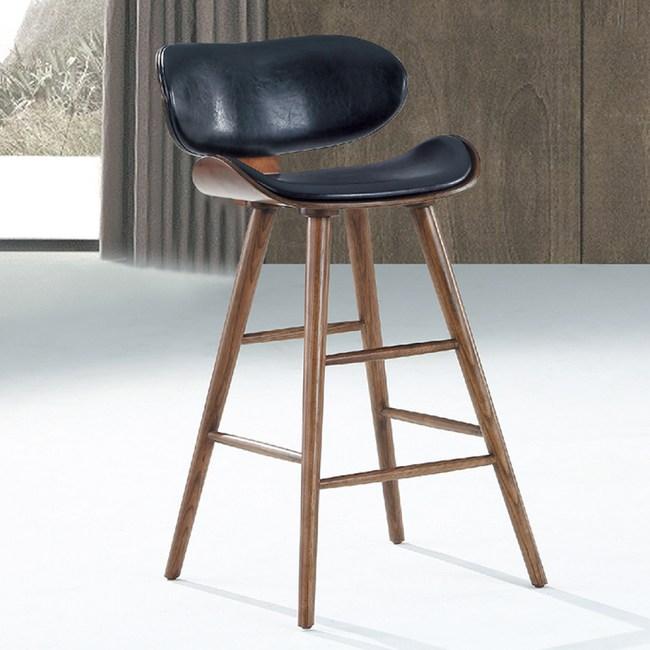 【YFS】瑪希飛機吧台椅-47x46x89cm(兩色可選)胡桃