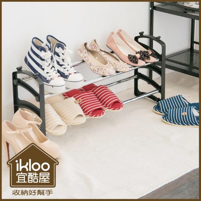 【ikloo】伸縮式鞋架組