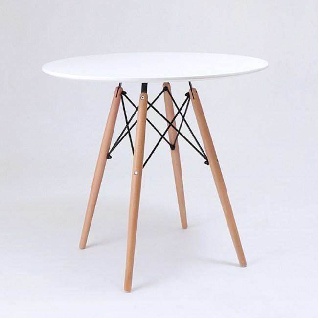 【IDEA】北歐典藏木製大圓桌 休閒桌 餐桌(二色任選/加粗桌腳)白色