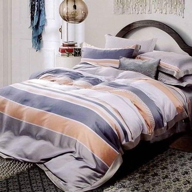 60支天絲床包兩用被四件組/雙人-歐文