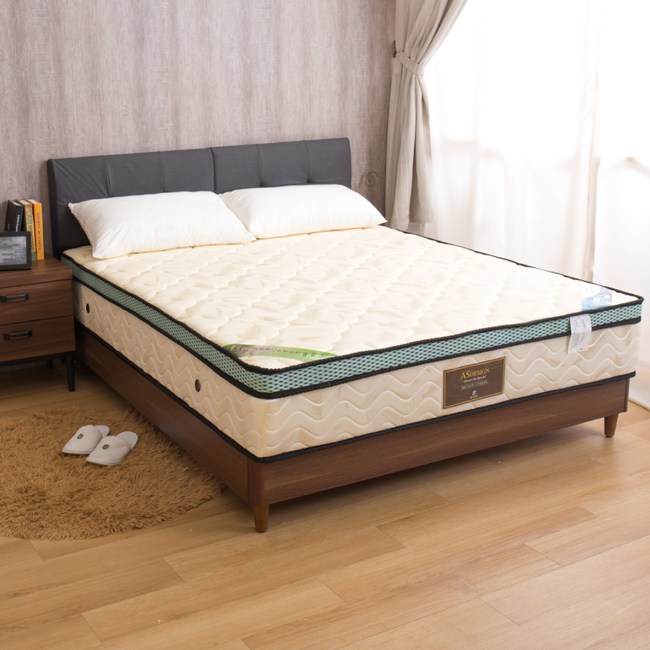 【YFS】拜爾德-防蹣乳膠正三線雙人加大6尺高筒獨立筒床墊