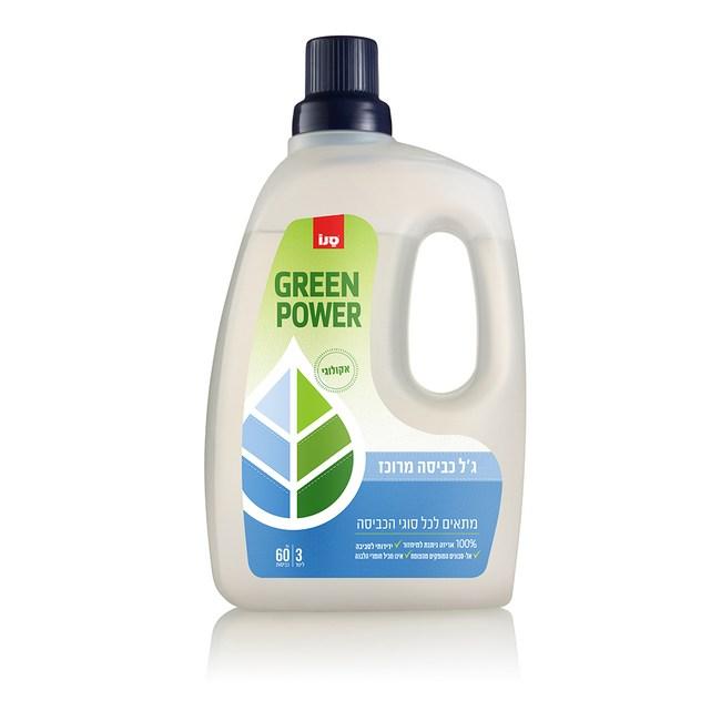 【SANO】以色列進口 環保綠力洗衣精 家庭號3L