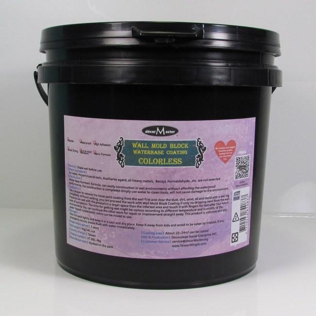 壁癌掰掰-壁癌881-乾後透明-4kg一桶裝透明