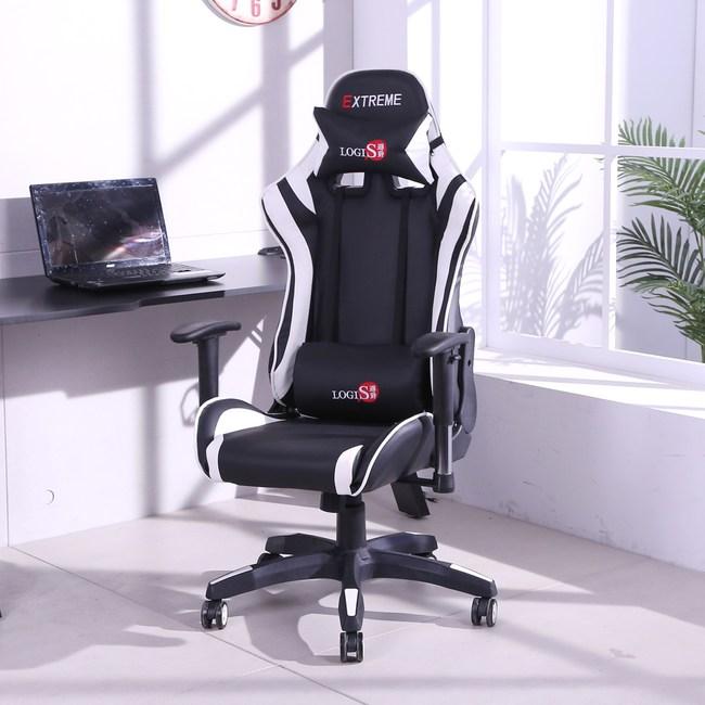 LOGIS- ESPORTS黑白聯盟戰隊電競椅 電腦椅 辦公椅 賽車椅