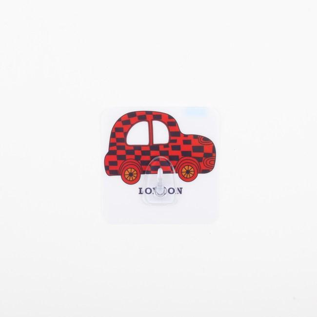 HOMMY黏貼式掛勾-紅色小車車(單入)