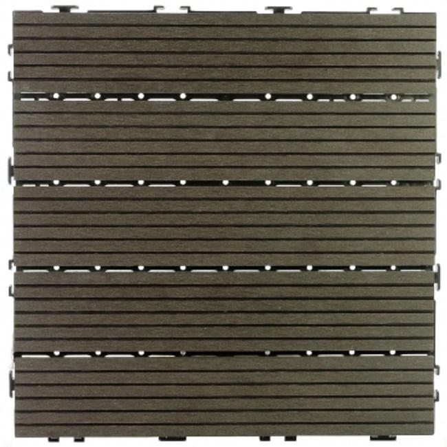 太陽神塑木止滑地板30X30-深灰