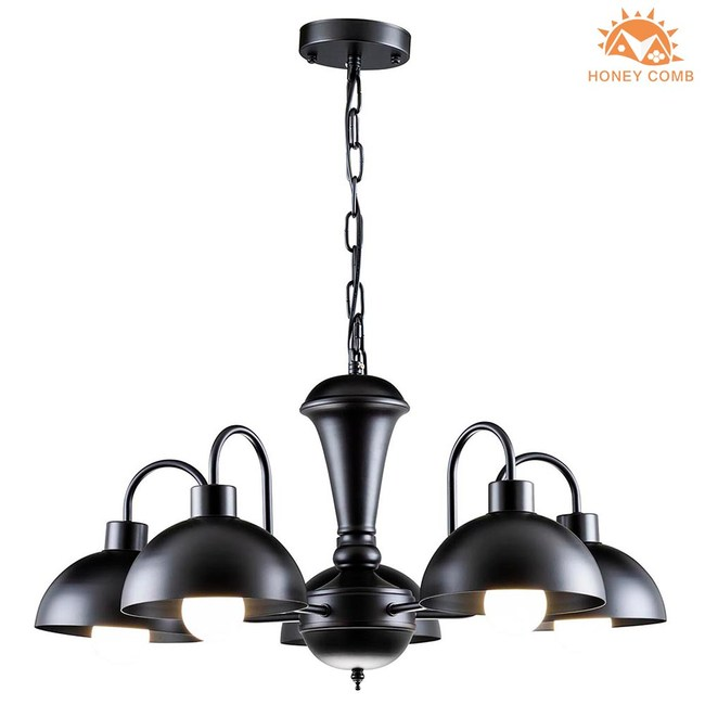 HONEY COMB 現代風雅緻餐吊燈 5燈 黑 BL-21321
